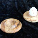 Eierbecher Eichenholz