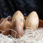 Ostereier Holz