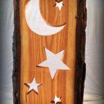 Standbrett Sonne Mond und Sterne Bild Collage